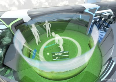 An 'Interactive Zone' would imitate any possible social scene, from a virtual business meeting to playing a game of  golf.
